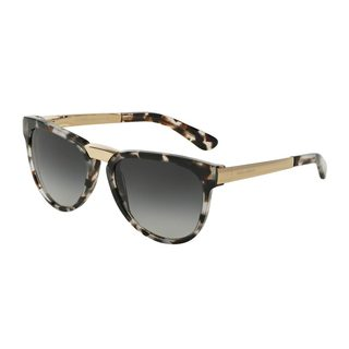 Dolce & Gabbana Women's DG4257 28888G Grey Plastic Square Sunglasses