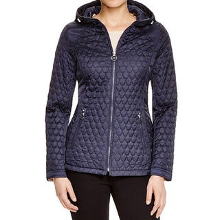 Laundry by Shelli Segal Women's Blue Quilted Packable Jacket