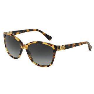 Dolce & Gabbana Women's DG4258 Tortoise Plastic Square Sunglasses