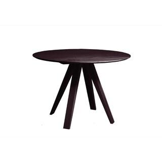 Saloom Nova 42-inch Round Chocolate Dining Table
