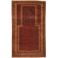 Herat Oriental Afghan Hand-knotted 1960s Semi-antique Tribal Balouchi Wool Rug - 2'10 x 4'9