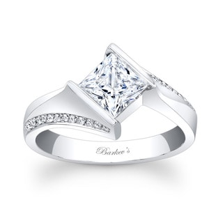 Barkev's Designer 14k White Gold Princess-cut Diamond Engagement Ring (Option: 6.75)