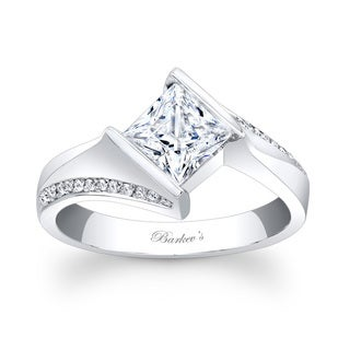 Barkev's Designer 14k White Gold Princess-cut Diamond Engagement Ring (F-G, SI1-SI2)