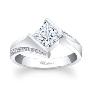 Barkev's Designer 14k White Gold Princess-cut Diamond Engagement Ring|https://ak1.ostkcdn.com/images/products/11527262/P18475246.jpg?impolicy=medium