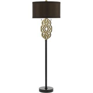 Grill Floor Lamp- Satin Brass