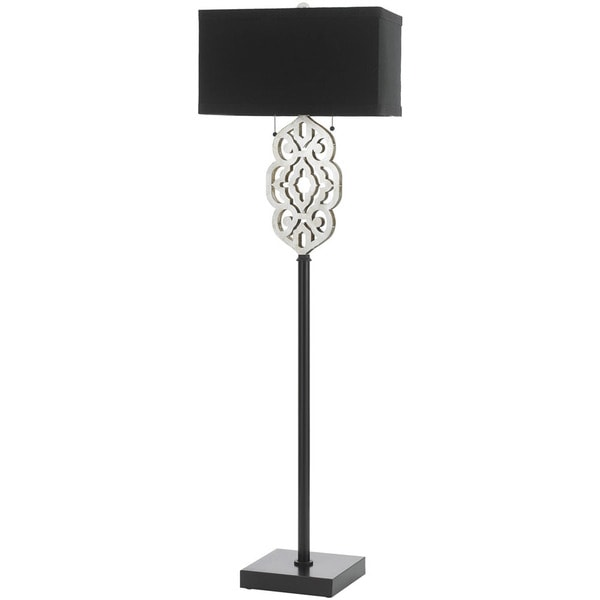 AF Lighting 8423-FL 8423 Floor Lamp- Silver and Black