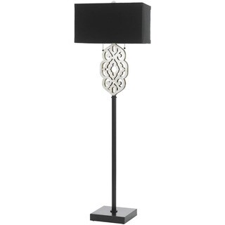 Grill Floor Lamp- Silver and Black