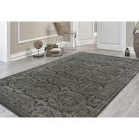 Hand-tufted Saint Thomas Dove Grey Blended New Zealand Wool and Art Silk Rug - 7'6 x 9'6