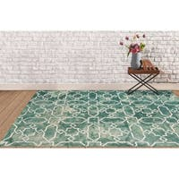 Hand-tufted Constantine Sea Blue New Zealand Wool Rug - 8' x 11'