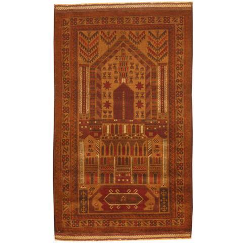 Handmade One-of-a-Kind Balouchi Wool Rug (Afghanistan) - 2'10 x 4'10