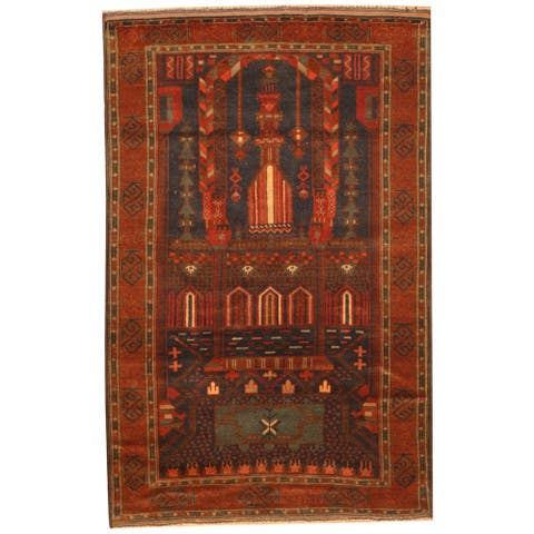 Handmade One-of-a-Kind Balouchi Wool Rug (Afghanistan) - 2'7 x 4'