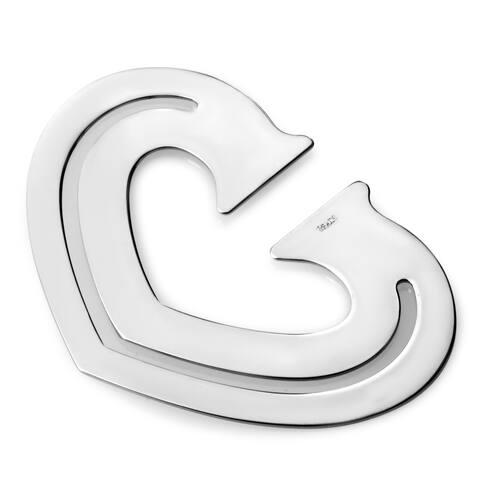 Cartier Stainless Steel Heart Bookmark