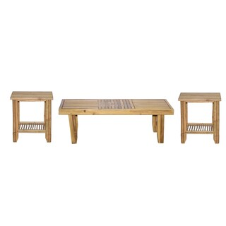 Fancy 3-piece Bamboo Coffee and End Tables Set (Vietnam)
