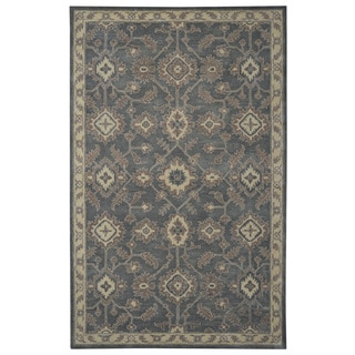 Handmade Hand-tufted Floral Persian Dark Grey/ Brown Wool Area Rug (5' x 8')
