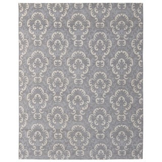 Hand-knotted Trendy Silky Clouds Turkish Grey/ Wool and Silkette Rug (8' x 10')