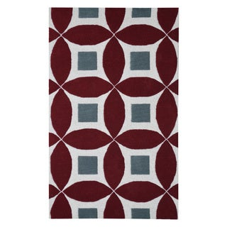 Hand-tufted Henley Rust Wool Rug (3'x5')