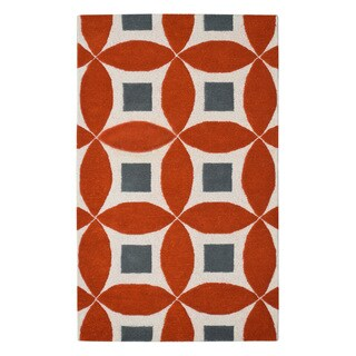 Hand-tufted Henley Orange Wool Rug (3'x5')