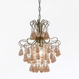 AF Lighting 8692-1H Tiffany Mini Pink Pearl Chandelier