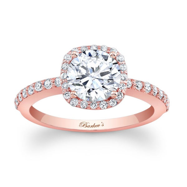 Barkev's Designer 14k Rose Gold 1 1/3ct TDW Diamond Halo Engagement Ring