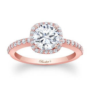 Barkev's Designer 14k Rose Gold 1 1/3ct TDW Diamond Halo Engagement Ring (F-G, SI1-SI2)