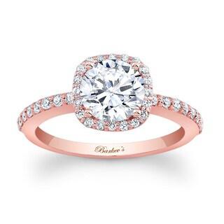 Barkev's Designer 14k Rose Gold 1 1/3ct TDW Diamond Halo Engagement Ring
