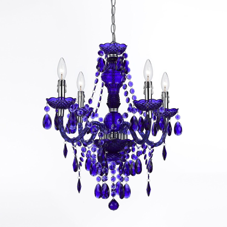 Af Lighting Purple 8681-4H Naples 4-Light Mini Chandelier...