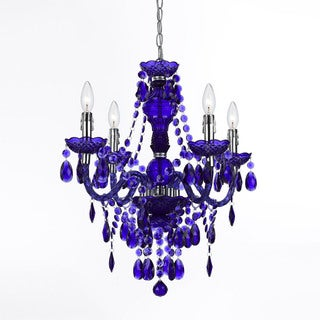 AF Lighting Purple 8681-4H Naples 4-Light Mini Chandelier