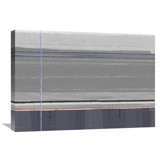Naxart Studio 'Abstract Grey' Stretched Canvas Wall Art