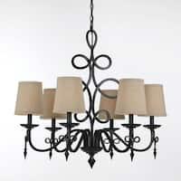 8600 Chandelier - Bronze - Black