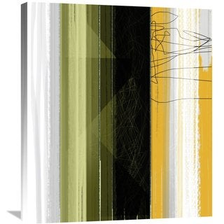 Naxart Studio 'Abstract Green And Yellow' Stretched Canvas Wall Art