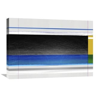 Naxart Studio 'Abstract Blue Black And Yellow' Stretched Canvas Wall Art