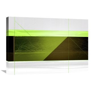 Naxart Studio 'Abstract Brown And Green' Stretched Canvas Wall Art