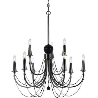 Candice Olson 8449-9H Shelby Metal Nine Candle Base Chandelier