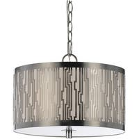 AF Lighting 8490-3H 8490 Pendant- Satin Nickel
