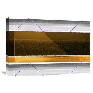 Naxart Studio 'Abstract Yellow And White Lines' Stretched Canvas Wall Art