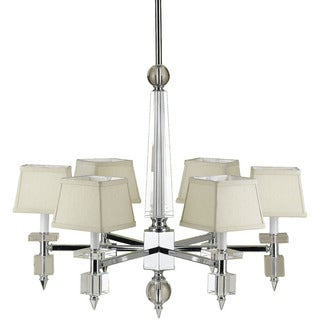 Candice Olson Cream Shades 6679-6H Cluny 6 Light Chandelier