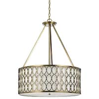 Large 8218 Pendant- Satin Brass - Brown