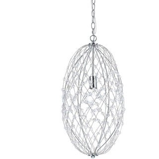 AF Lighting 8287-1H Tear Drop Silver Web Pendant