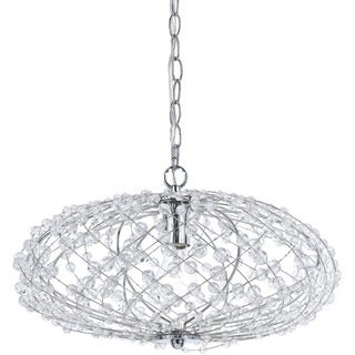 AF Lighting 8286-1H Oval Silver Web Pendant