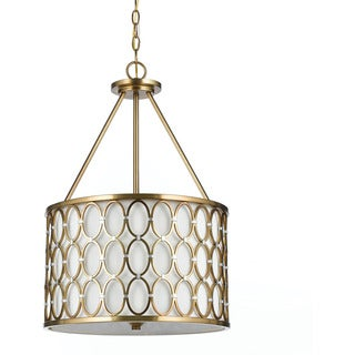 Candice Olson 8103-3H Cosmo Pendant- Satin Brass