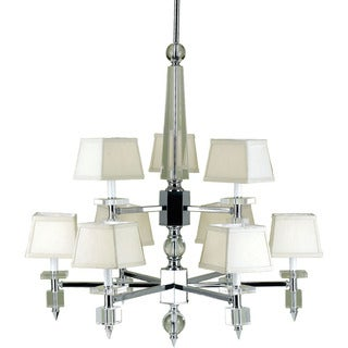 Candice Olson Cream Shades 6761-9H Cluny 9-light Chandelier