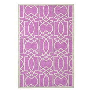 Hand-tufted Modern Marvel Braylin Radiant Orchid Purple Wool Rug (5' x 8')