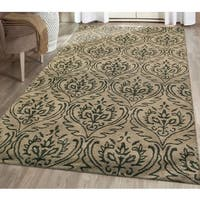 Hand-tufted Saint Thomas Sandstone Blended New Zealand Wool and Art Silk Rug (7'6 x 9'6) - 7'6 x 9'6