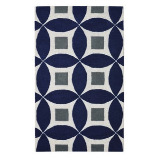 Hand-tufted Henley Navy Blue Wool Rug (3' x 5')