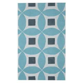 Hand-tufted Henley Sea Blue Wool Rug (3' x 5')