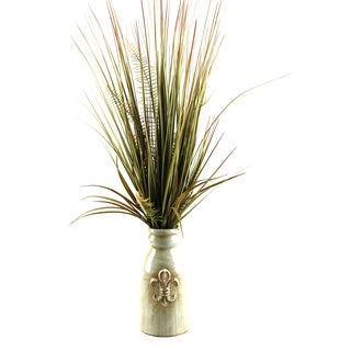 36-inch Mixed Grass in Ceramic Planter