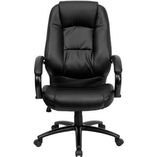 Kestas Black Leather Executive Adjustable Swivel Office Chair