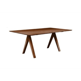Saloom Soma 36 x 60 Rectangular Maple Smooth Top Dining Table in Walnut Finish