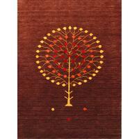 Hand-woven San Ramon Natural Brown New Zealand Wool Rug (9' x 12') - 9 x 12