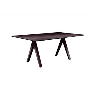 Saloom Soma 36 x 72 Rectangular Maple Smooth Top Dining Table in Chocolate Finish